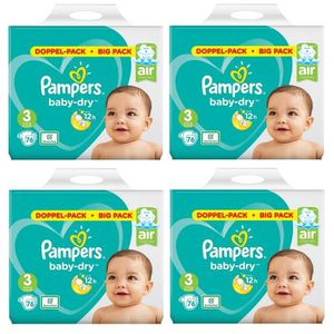 COUCHE  Pampers Baby Dry Taille 3 Midi 6-10kg 304 Couches
