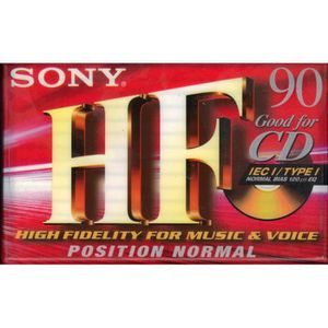 BALADEUR CD - CASSETTE Cassette audio (pour lecteur cassette) Sony HF 90