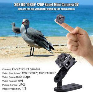 CAMÉRA MINIATURE SQ8 HD 1080P 720P Sport Mini DV Caméra Enregistreu