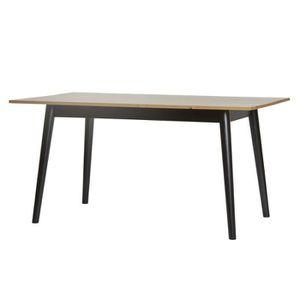 TABLE À MANGER SEULE Table de repas pieds Noirs et plateau Bois - ELITE