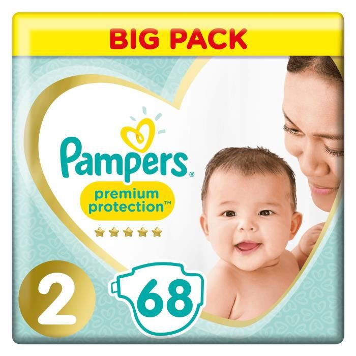 COUCHE PAMPERS Premium Protection New Baby Taille 2 - 3 à
