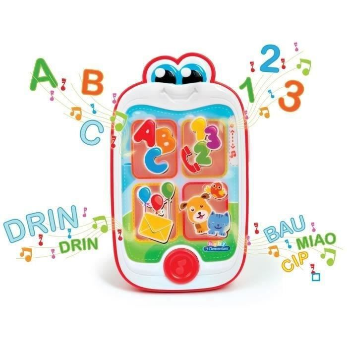 CLEMENTONI - Ashton le smartphone Mixte - Livré à l'unité - A partir de 6 moisBOITE A MUSIQUE - BOITE A BRUIT