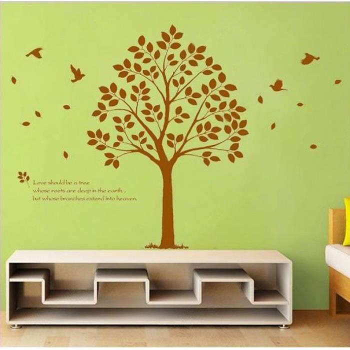 grand arbre sticker adhsifs muraux dcoration stickers muraux coller sur le mur transprent impermable en vinyle dcor - Decoration Stickers Muraux Adhesif