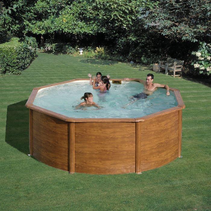 Kit piscine paroi acier d montable x achat vente piscine kit piscine cdiscount - Piscine bois miami ...