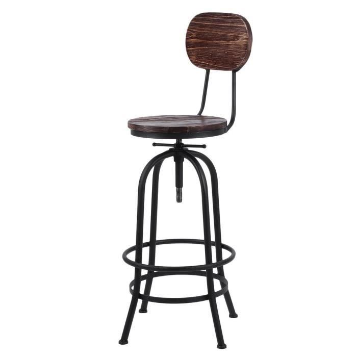 De Manger Réglable Salle Style Chaise Bar Tabouret Industriel À H9DEW2I