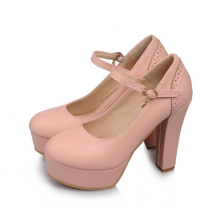 Chaussures Femme à Serres Mode Doux élégant Mariage Fermeture Lacets