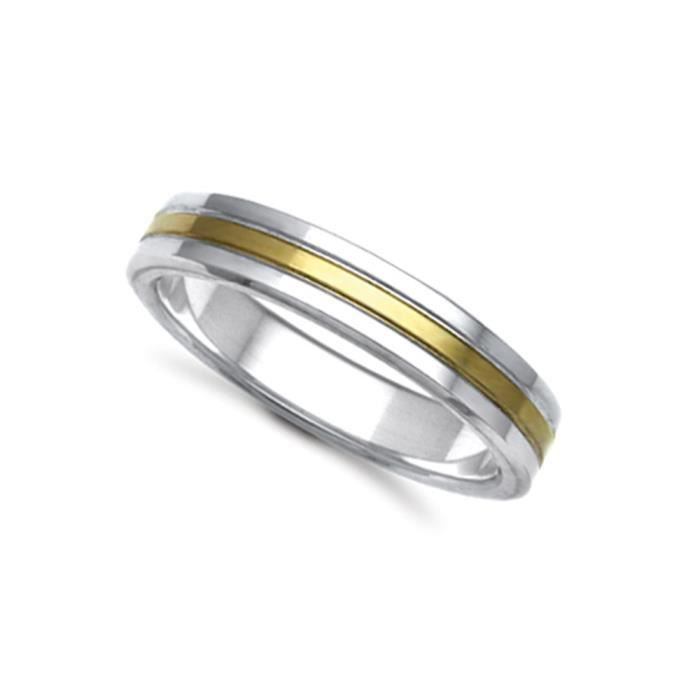 Jewelco London Or 2 couleurs 9k mariage bague 5mm