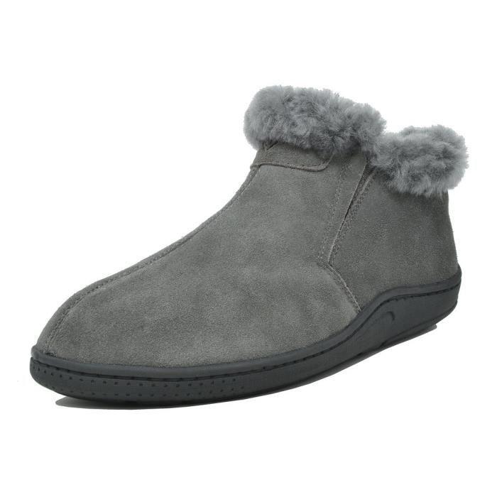 Suede en cuir en peau de mouton fourrure Doublure Mocassins Bottes NL0C6 Taille-40 1-2