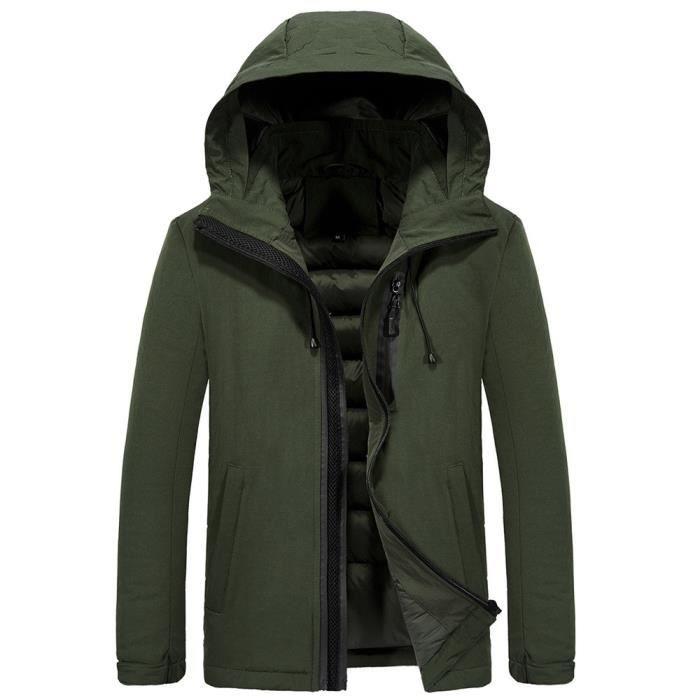 Verte Épais Hiver Armée À Automne Yay81102378ag Très Homme Nouveau Style Manteau Chaud Et Capuche axx6OqZ