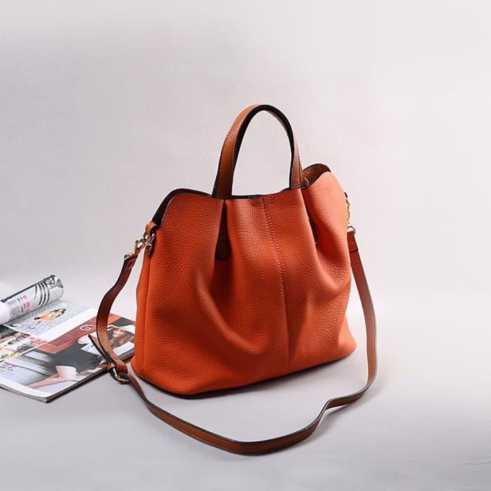 bandoulière Messenger Orange Épaule main sac cuir à mobile Mode deuxsuns sac HFT70114110OR HM5172 à pITAqA
