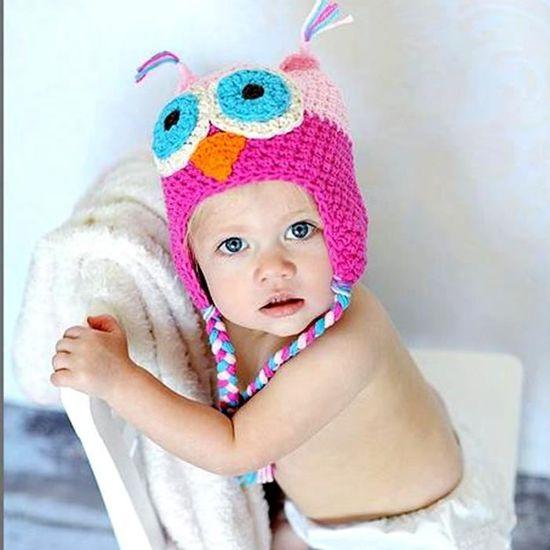 e7bf0912d614 Bonnet Chapeau pour bébé Chouette Pure Style Laine chaud d oreille Tissés à la  main noir - Achat   Vente visière de bain 3615610161163 - Cdiscount