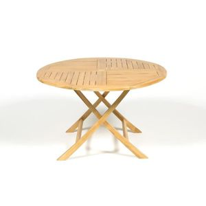 Table de jardin teck pliante - Achat / Vente pas cher