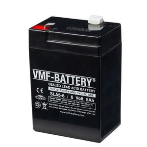 BATTERIE VÉHICULE Batterie Agm Vmf de Veille et Cyclique 6 V 5 Ah Sl