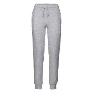 SURVÊTEMENT Pantalon jogging femme - R-268F - gris chiné 622888e5af4
