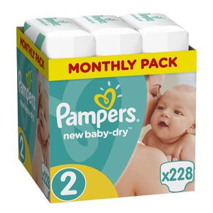 COUCHE PAMPERSBaby-dry - Couches Taille 2 -3 à6 kg - (