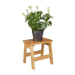 TABOURET Relaxdays Tabouret Repose-Pieds Bambou Rustico Tab
