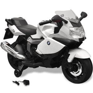 MOTO - SCOOTER Blanc Moto électrique 6V de style BMW 283 avec 2 s