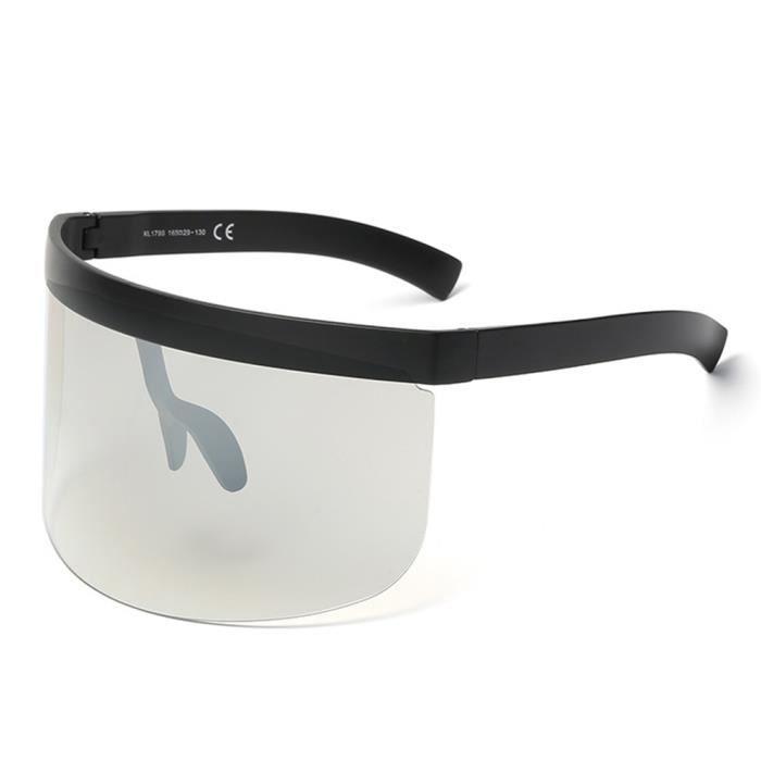 Lunettes de soleil mixte homme et femme Protection de Fashion Grande Cadre sunglasses Anti-Collision Grise