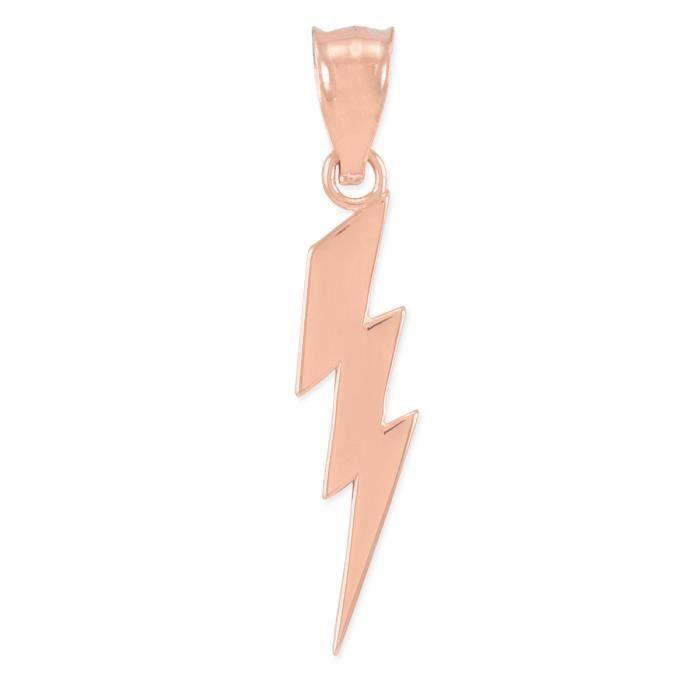 Collier Pendentif10 ct 471/1000 or Rose Coup de Tonnerre- Collier Pendentif(vient avec une Chaîne de 45 cm)