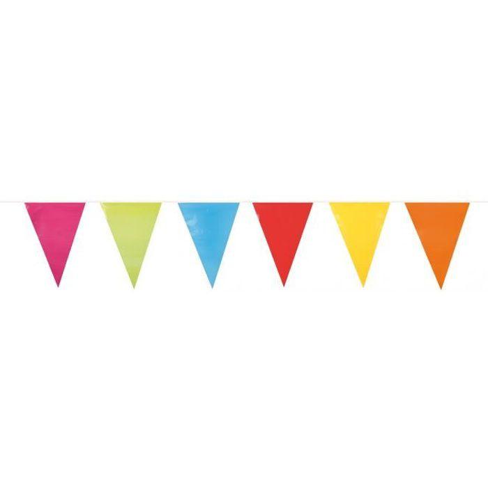 BANDEROLE - BANNIÈRE Guirlande à fanions multicolores 10 m
