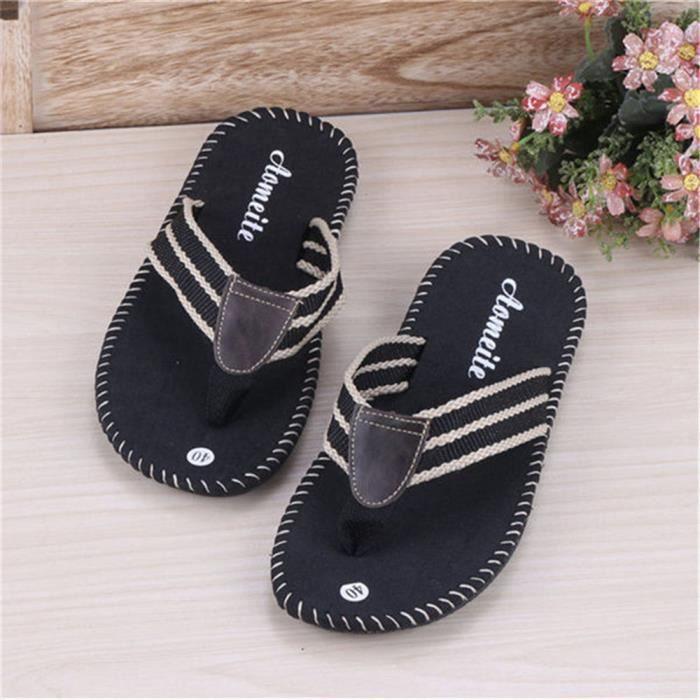 2ed19e4ba0889b Homme tongs hommes de chaussures d'été sandales sandale massant ...