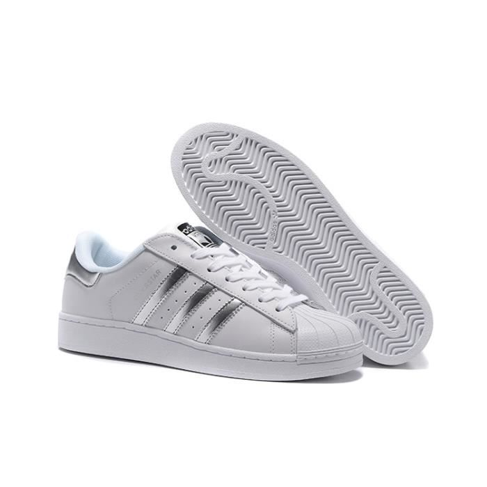 Blancargent Baskets Basses Chaussures Aq3091 Superstar Adidas Femme eCorWxdB