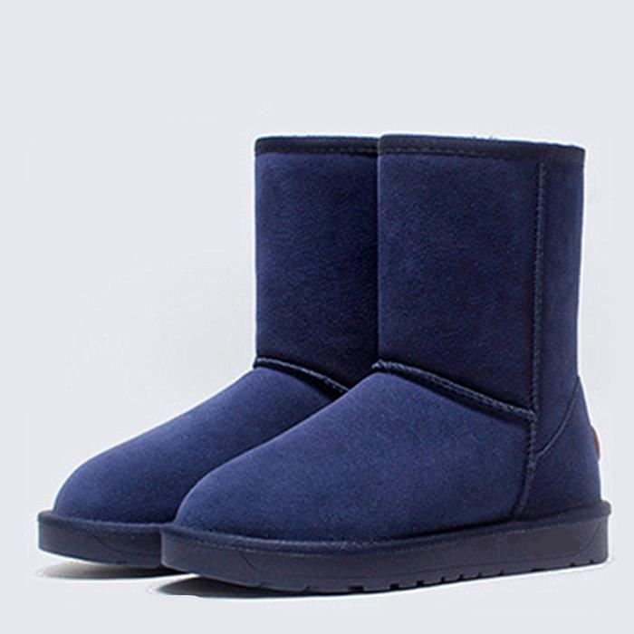 Bottes de neige pour dames Bottes hiver Chaussures en coton Chaussures plates Chaussures 1Cm4kq