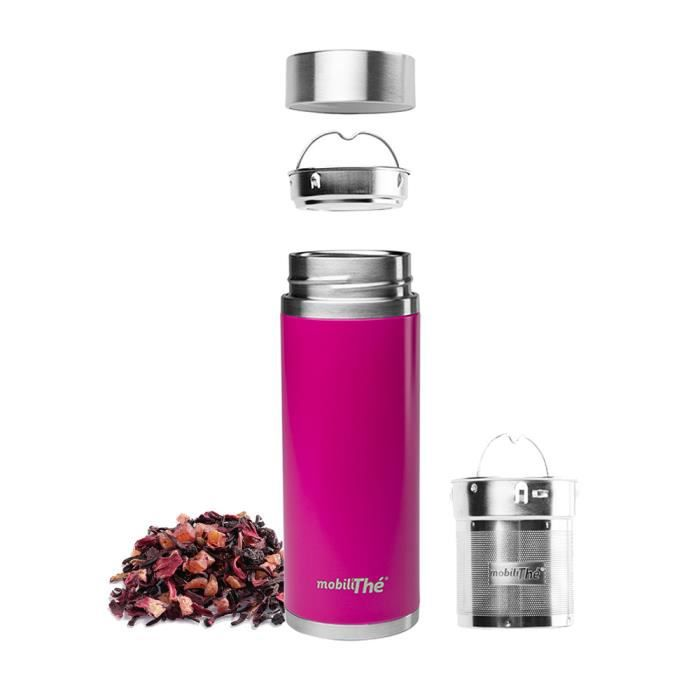 Qwetch - Théière nomade isotherme inox MobiliThé 300 ml - Achat ...