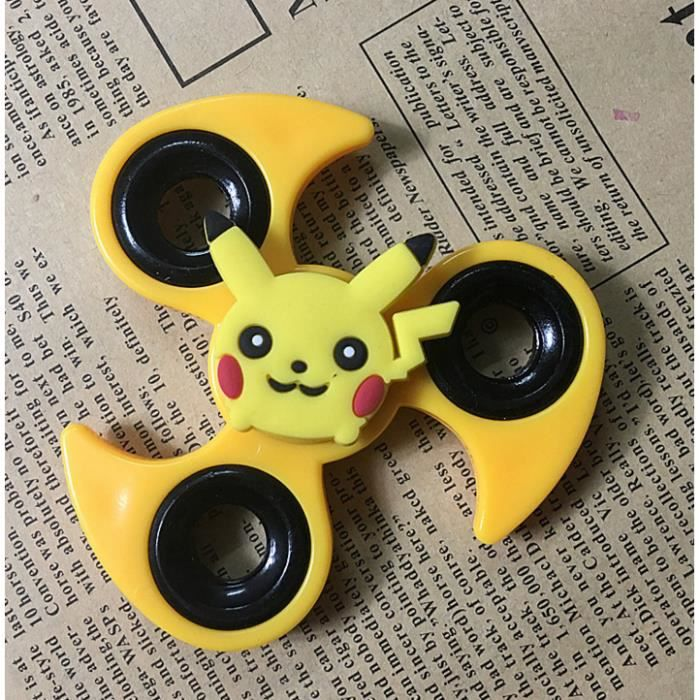 1 pcs jaune pikachu hand fidget spinner jeux jouets pour. Black Bedroom Furniture Sets. Home Design Ideas