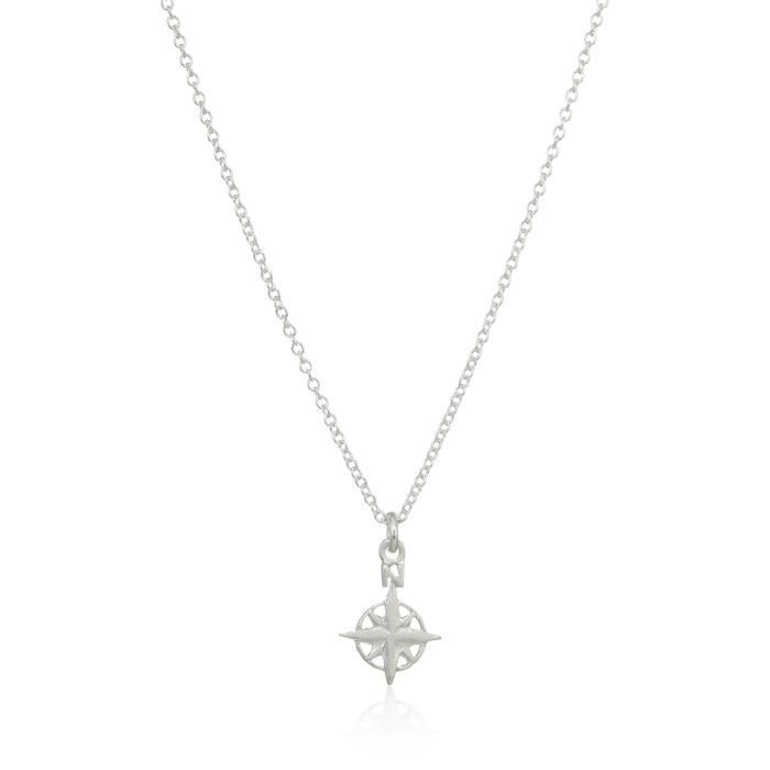 Dogeared Explore, Compass Chain Necklace, 16+2 Extender A7J9Y