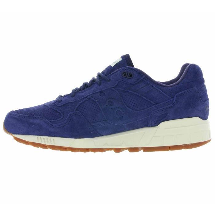 Saucony Shadow 5000 Cuir véritable des hommes baskets bleu S70301-1