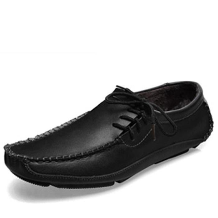 Mode casual chaussures plates pour les hommes Mocassins