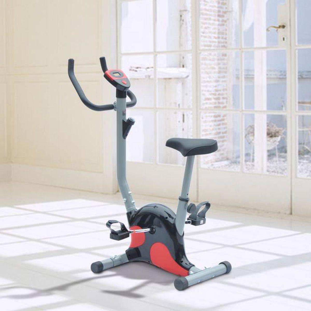 v lo d appartement exercice fitnesse cardio avec compteur lcd selle hauteur r glable acier. Black Bedroom Furniture Sets. Home Design Ideas
