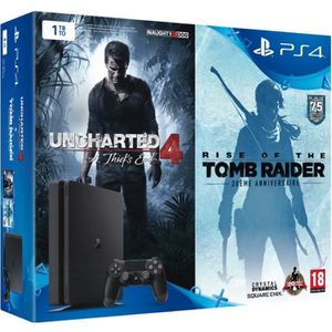 CONSOLE PS4 SONY COMPUTER Pack PS4 Slim 1 To + 2 jeux : Unchar