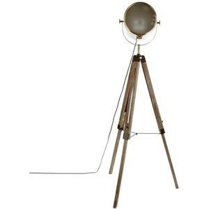 LAMPADAIRE EBOR Lampadaire - Bois et métal - Marron - H152 cm