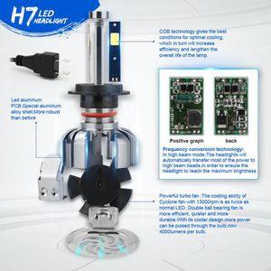 PHARES - OPTIQUES H7 HB2 80W 8000LM COB phares LED Kit Salut - Lo fa