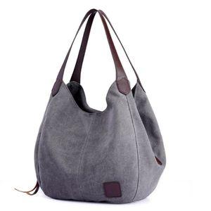 VALISE - BAGAGE Sacs à main en toile couleur unie sac à bandoulièr