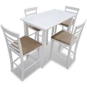 Table Et Chaise De Cuisine Blanche Achat Vente Pas Cher