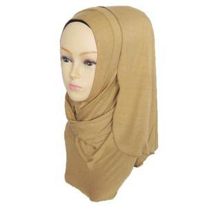 ECHARPE - FOULARD Femmes coton long foulard musulman hijab arabe éch c99bed31df2