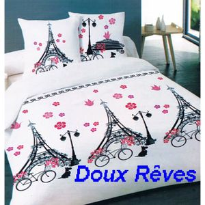 housse de couette 220x240 paris achat vente housse de couette 220x240 paris pas cher cdiscount. Black Bedroom Furniture Sets. Home Design Ideas