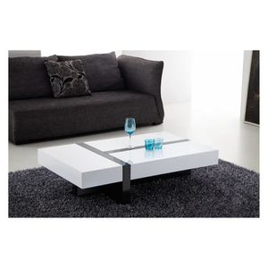 Blanc Rectangulaire Basse Table Pas Laque Cher Achat Vente RqjL354A
