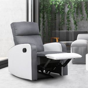 FAUTEUIL Fauteuil relaxation inclinable gris anthracite et