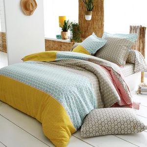 parure de lit motif geometrique achat vente parure de lit motif geometrique pas cher. Black Bedroom Furniture Sets. Home Design Ideas