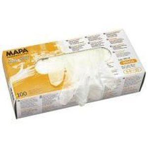 GANT MÉNAGE - VAISSELLE Paire de gants jetables Mapa vinyle poudré blanc t