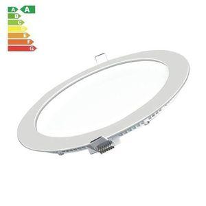 PLAFONNIER Plafonnier LED Rond Extra-plat 15W Blanc Naturel 6