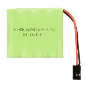 BATTERIE VÉHICULE 4.8V 2400mAh AA Ni MH RX récepteur batterie plate
