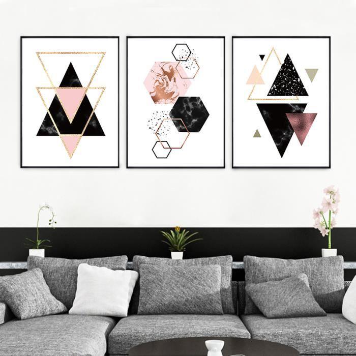 cadre deco forme geometrique achat vente pas cher. Black Bedroom Furniture Sets. Home Design Ideas