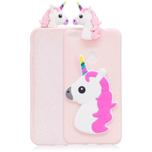 coque iphone 7 licorne rose