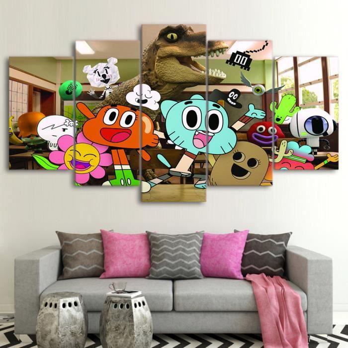 HD Imprime Dans Le Monde Incroyable De Gumball Peinture Sur Toile Decoration Salle A Manger Imprimer Poster