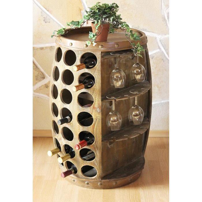 dandibo casier vin tonneau vin 0416 bar porte bouteilles 84cm pour btl etag re tonneau. Black Bedroom Furniture Sets. Home Design Ideas